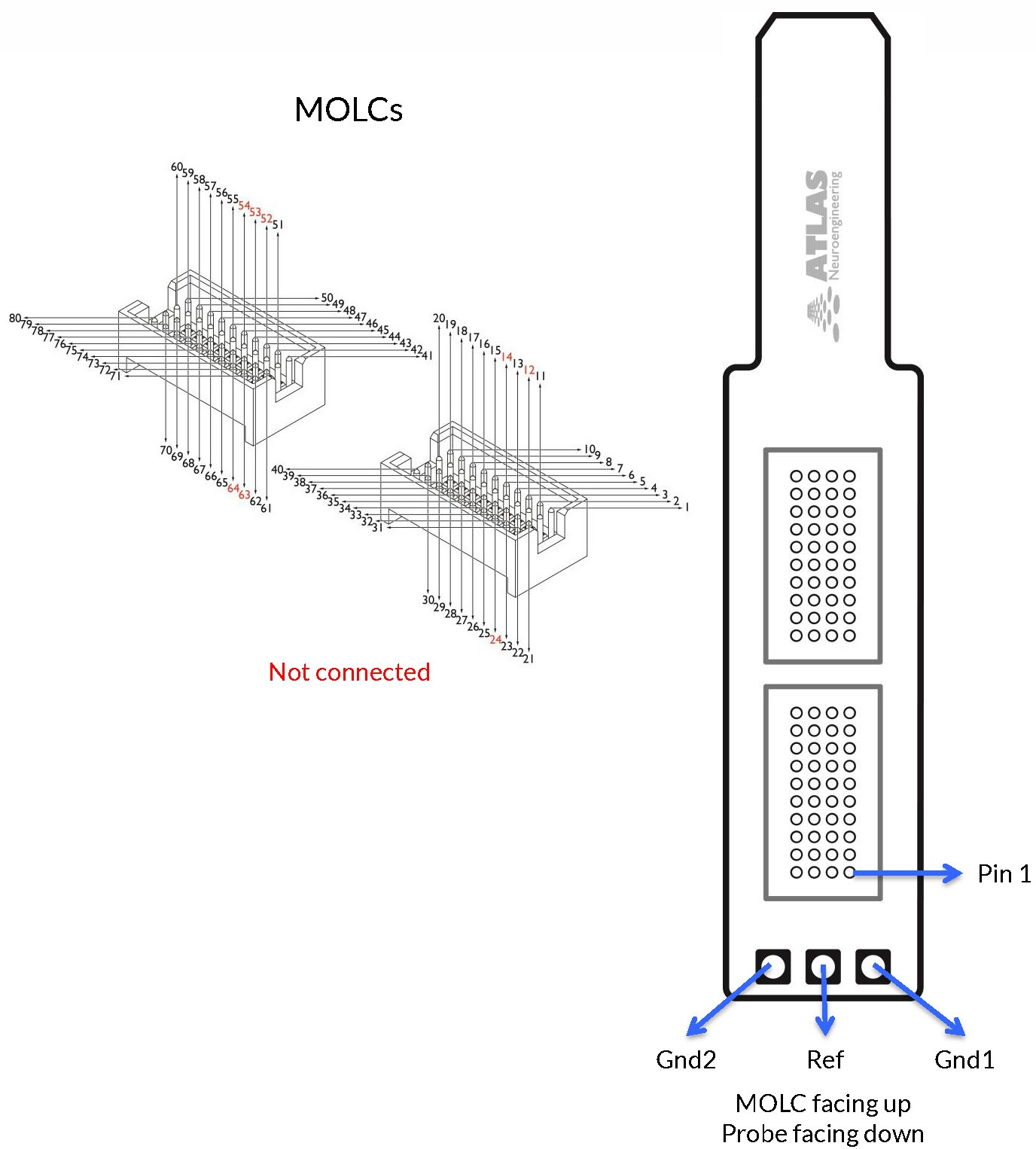 64-channel acute, MOLC